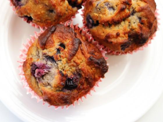Blueberry & Banana Buckwheat Muffins