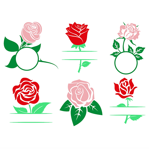 Rose Frame Monograms