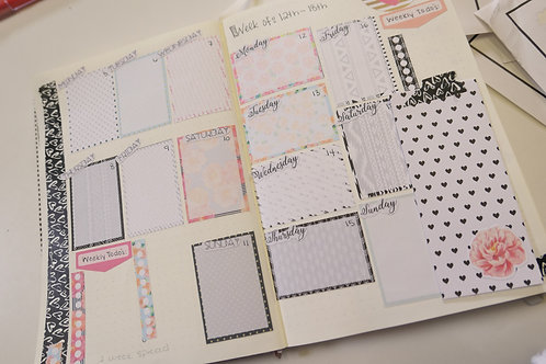 Simple Planner Floral and Aztek Stickersl