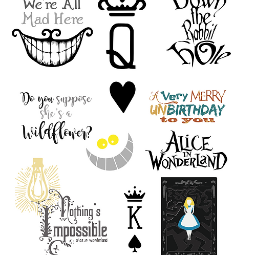 Alice in Wonderland SVG's