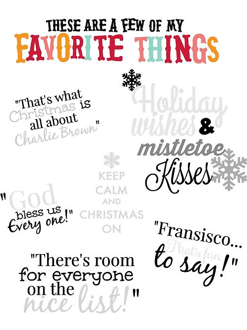 Holiday Sayings Bundle