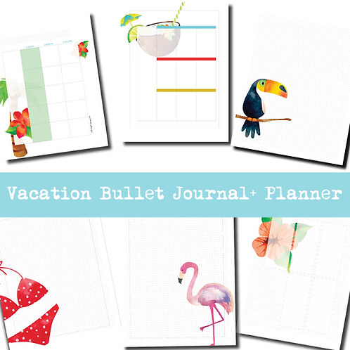 Vacation Bullet Journal + Planner