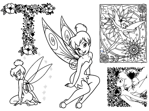Tinkerbell Coloring Page Bundle