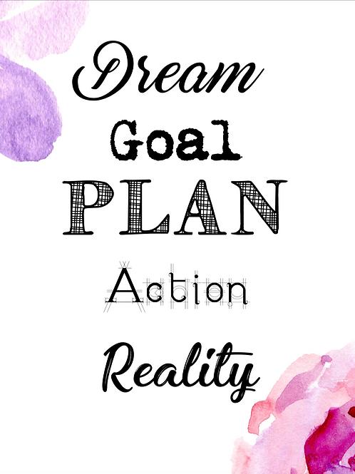 Dream To Reality Printable