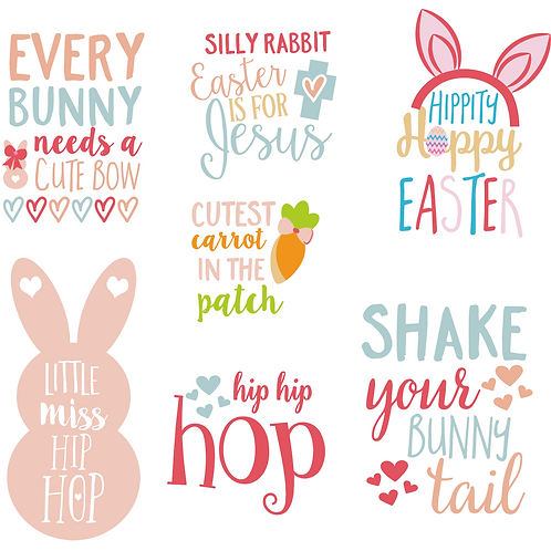 Spring time BUNNY SVG Bundle