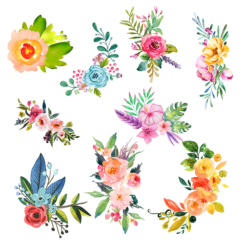 Print and Cut Floral Bouquets