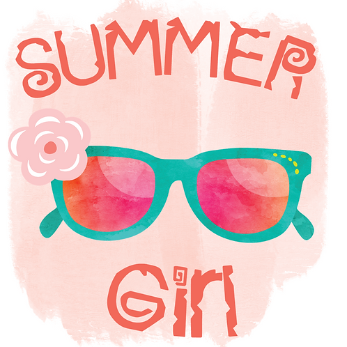 Summer Girl (Print and Cut)