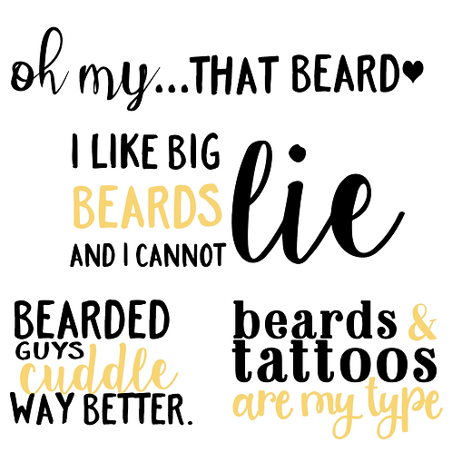 Beards and Tattoos Bundle