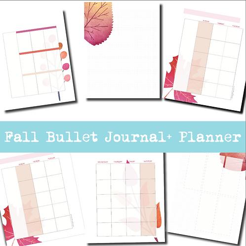 Fall Bullet Journal + Planner