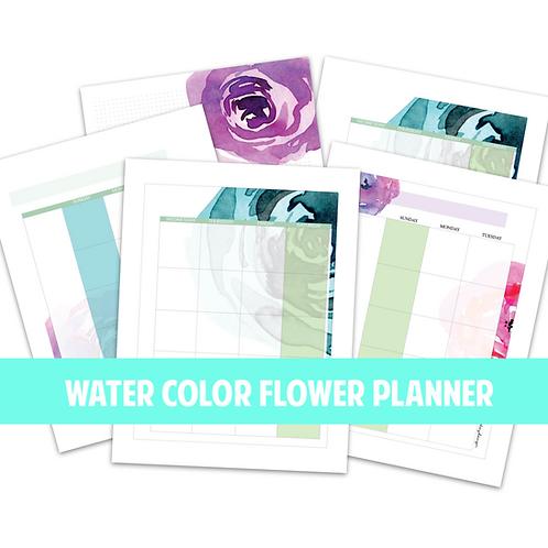 Watercolor Printable Planner