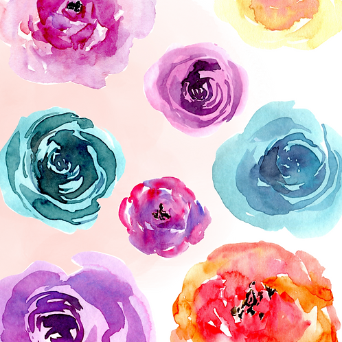 Auntie Tay Watercolor Flowers