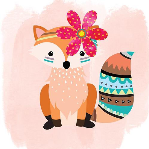 Cute Fox(Print and Cut)