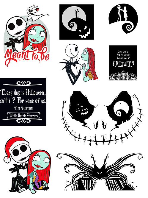 Jack and Sally SVG Bundle