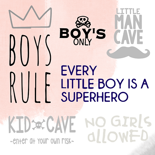 Boy Room Signs