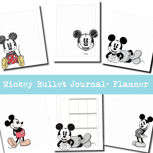 Mickey Bullet Journal + Planner
