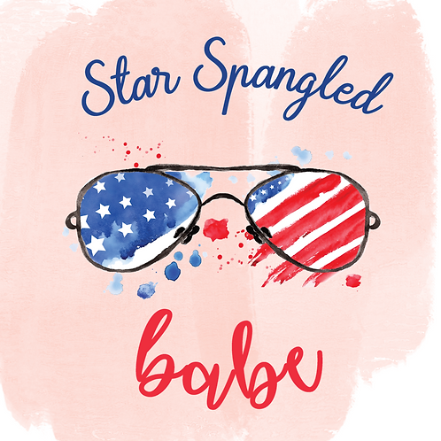 Star Spangled Babe (Print and Cut)