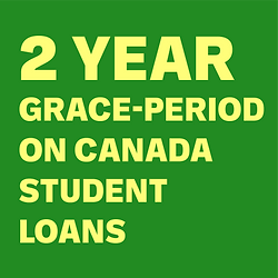 2 year grace-period on Canada Student Lo