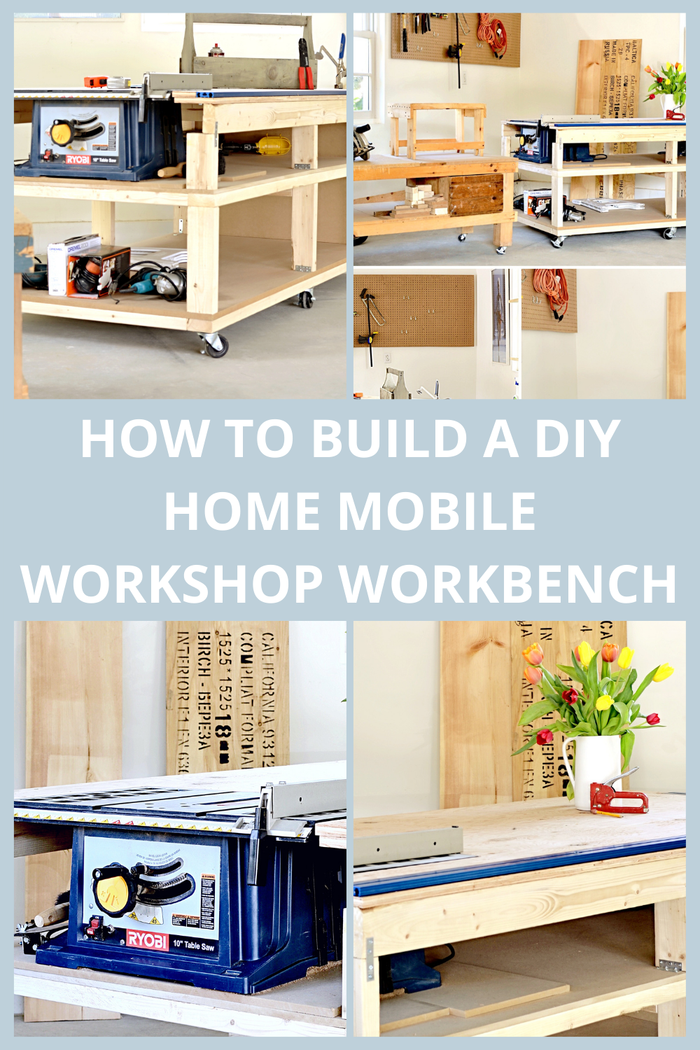 HOW TO BUILD A DIY HOME MOBILE WORKSHOP WORKBENCH
