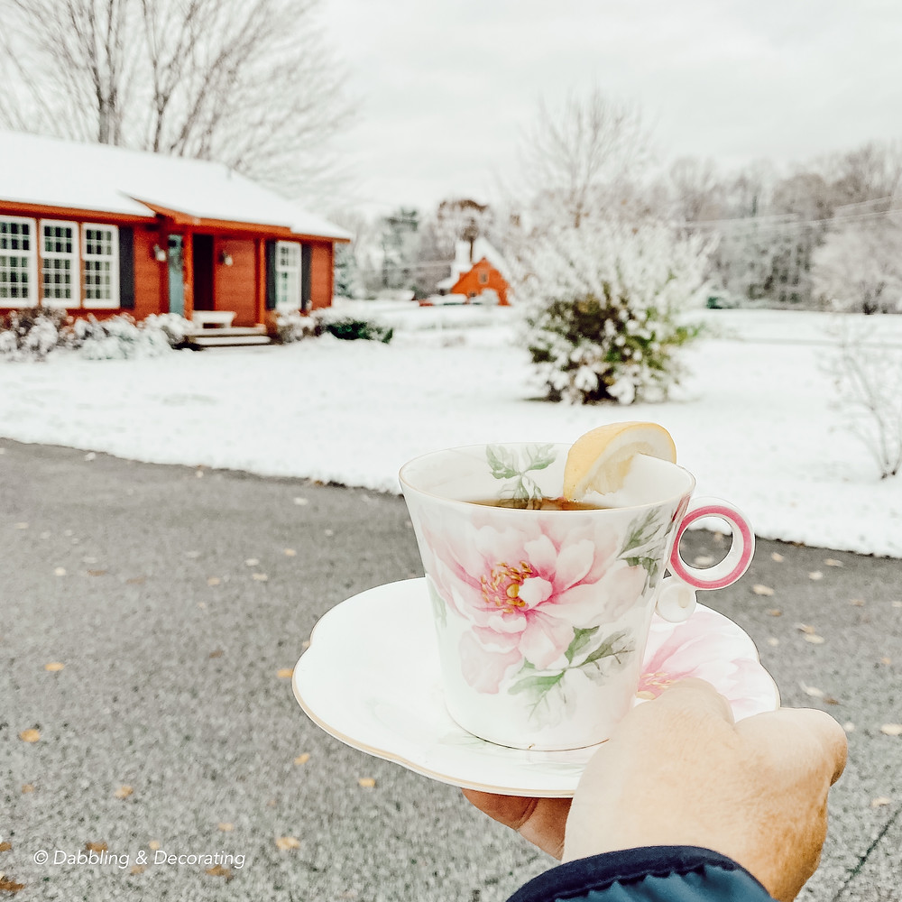 Warming up in Vermont with the Traveling Teacup
