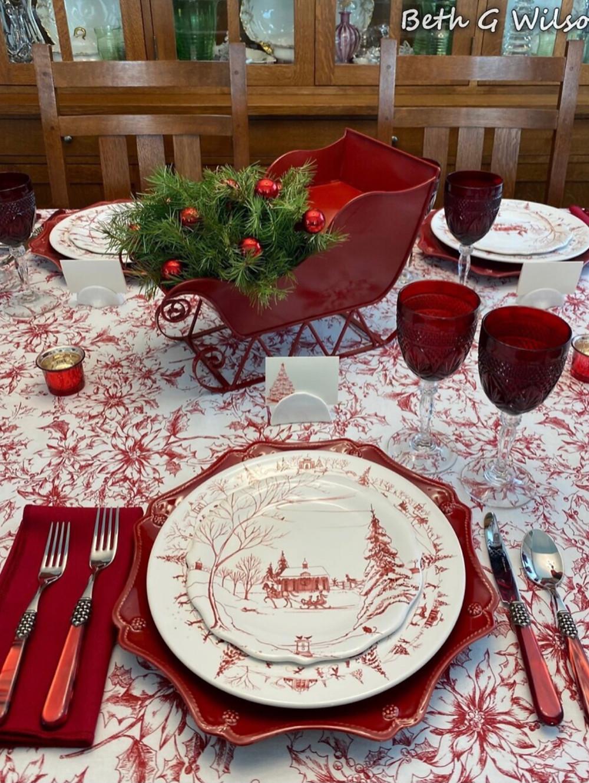 A Winter Scene Tablescape