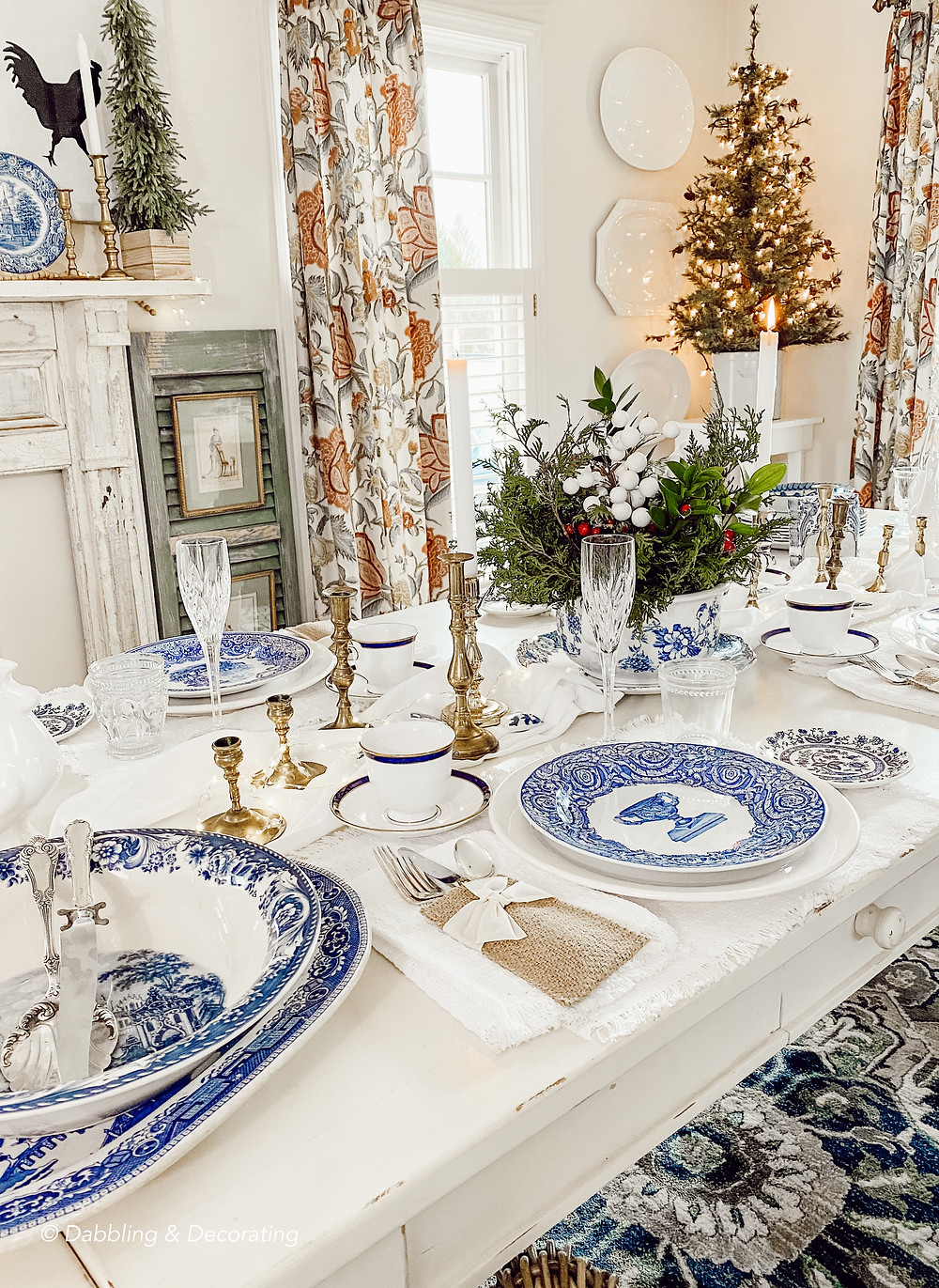 Collected Antique Blue and White Tablecape