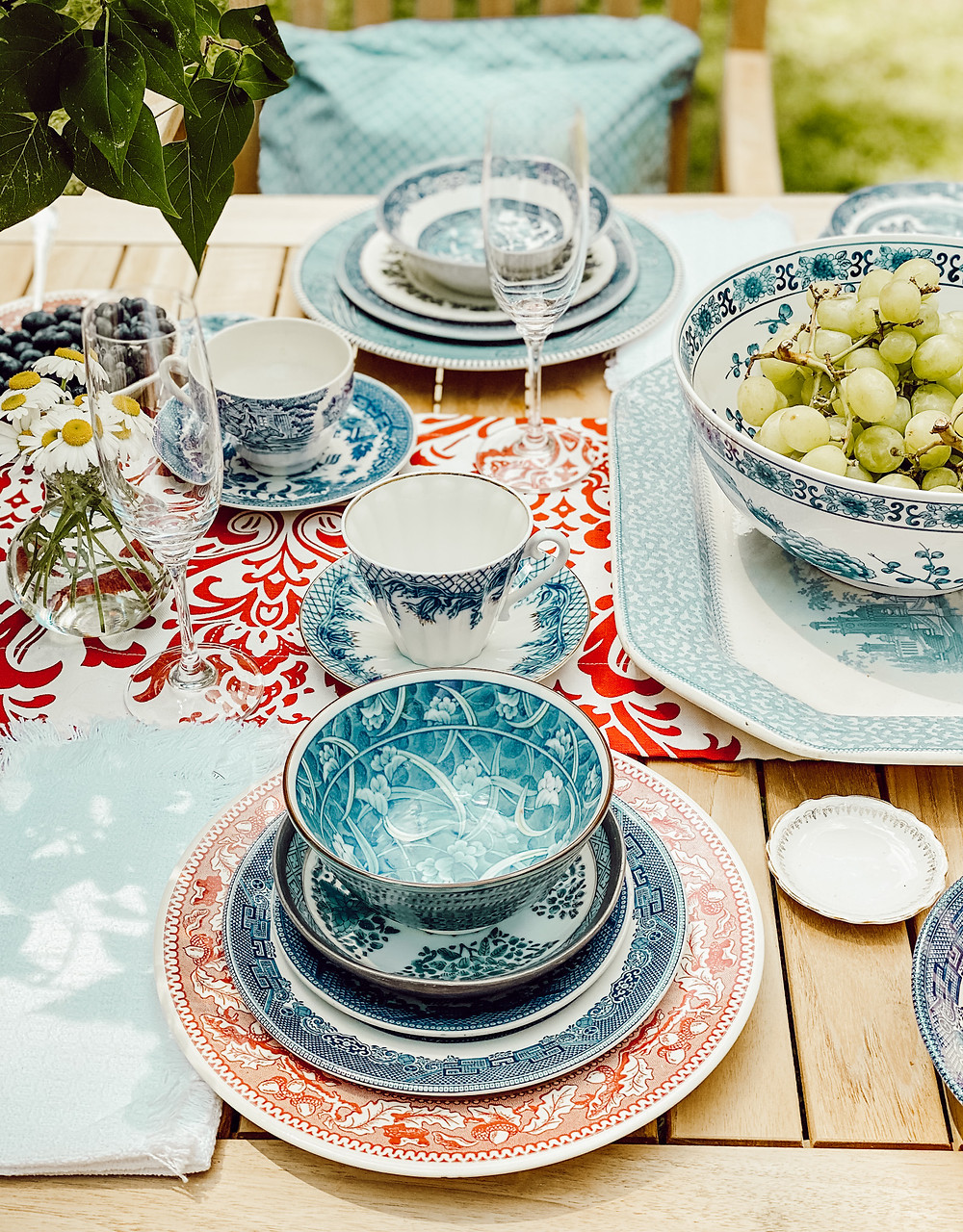 An Alfresco Summer Breakfast Table