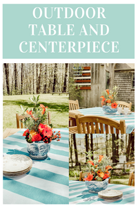 Outdoor Table and Centerpiece