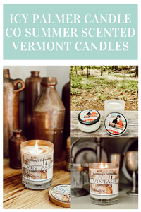 ICY PALMER CANDLE CO SUMMER SCENTED VERMONT CANDLES