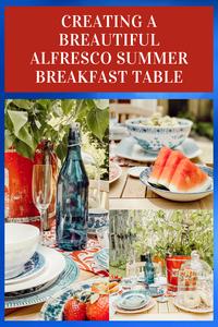 An Alfresco Summer Breakfast Table