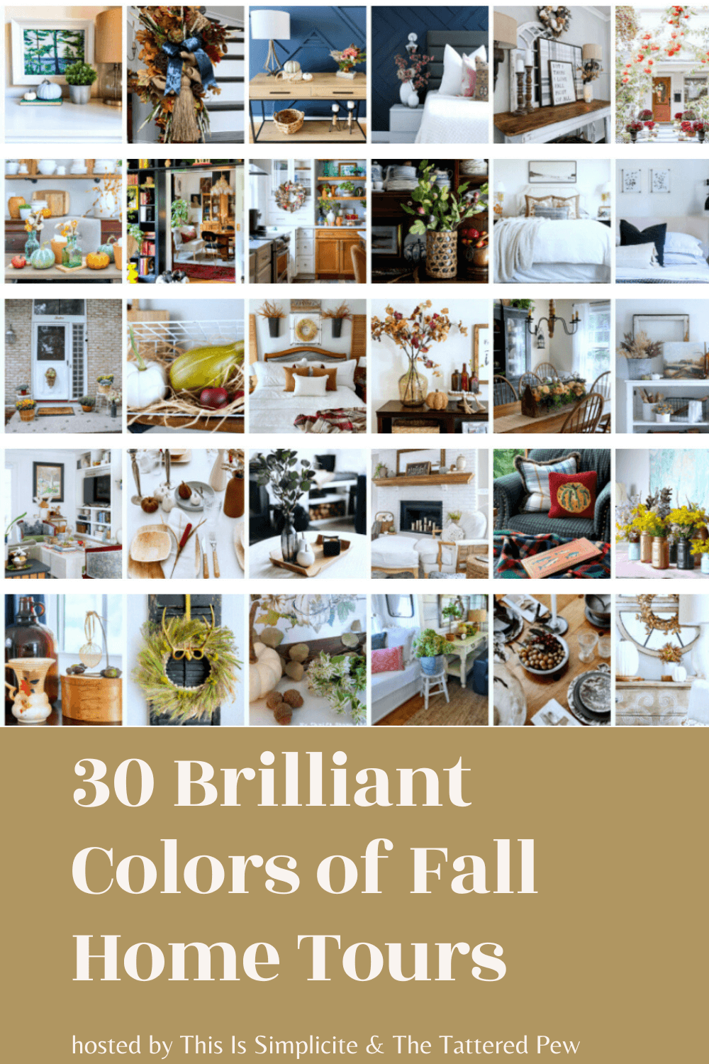30 Brilliant Colors of Fall Home Tours