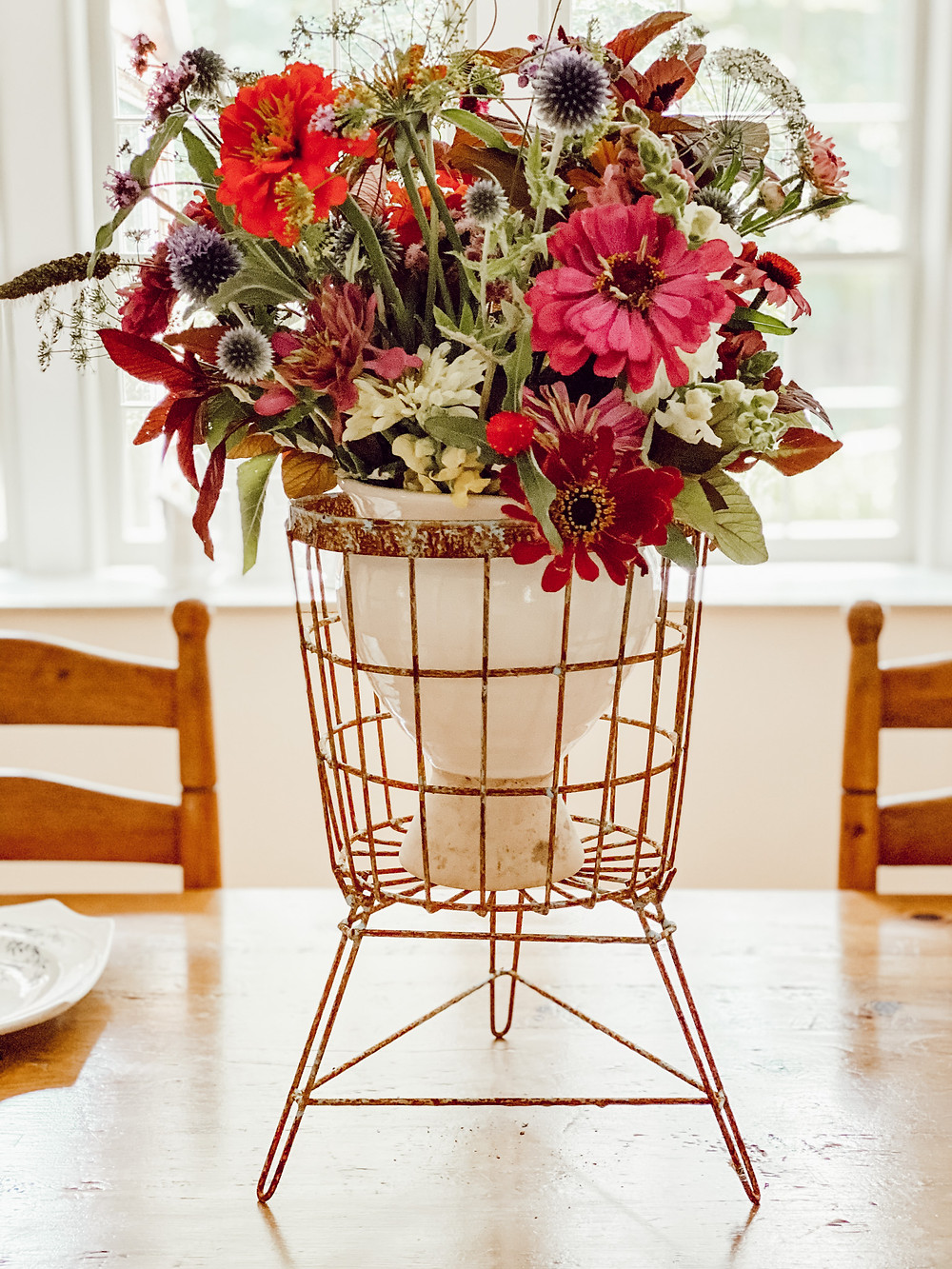 Vintage Styled Flower Centerpiece