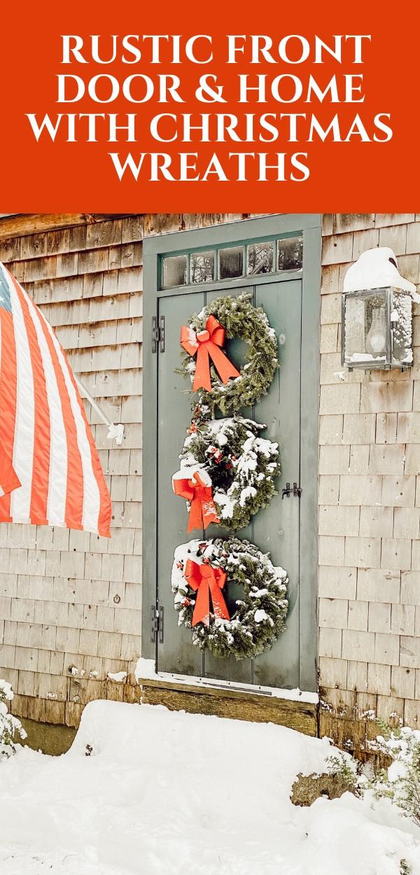 Christmas Wreath Front Door.