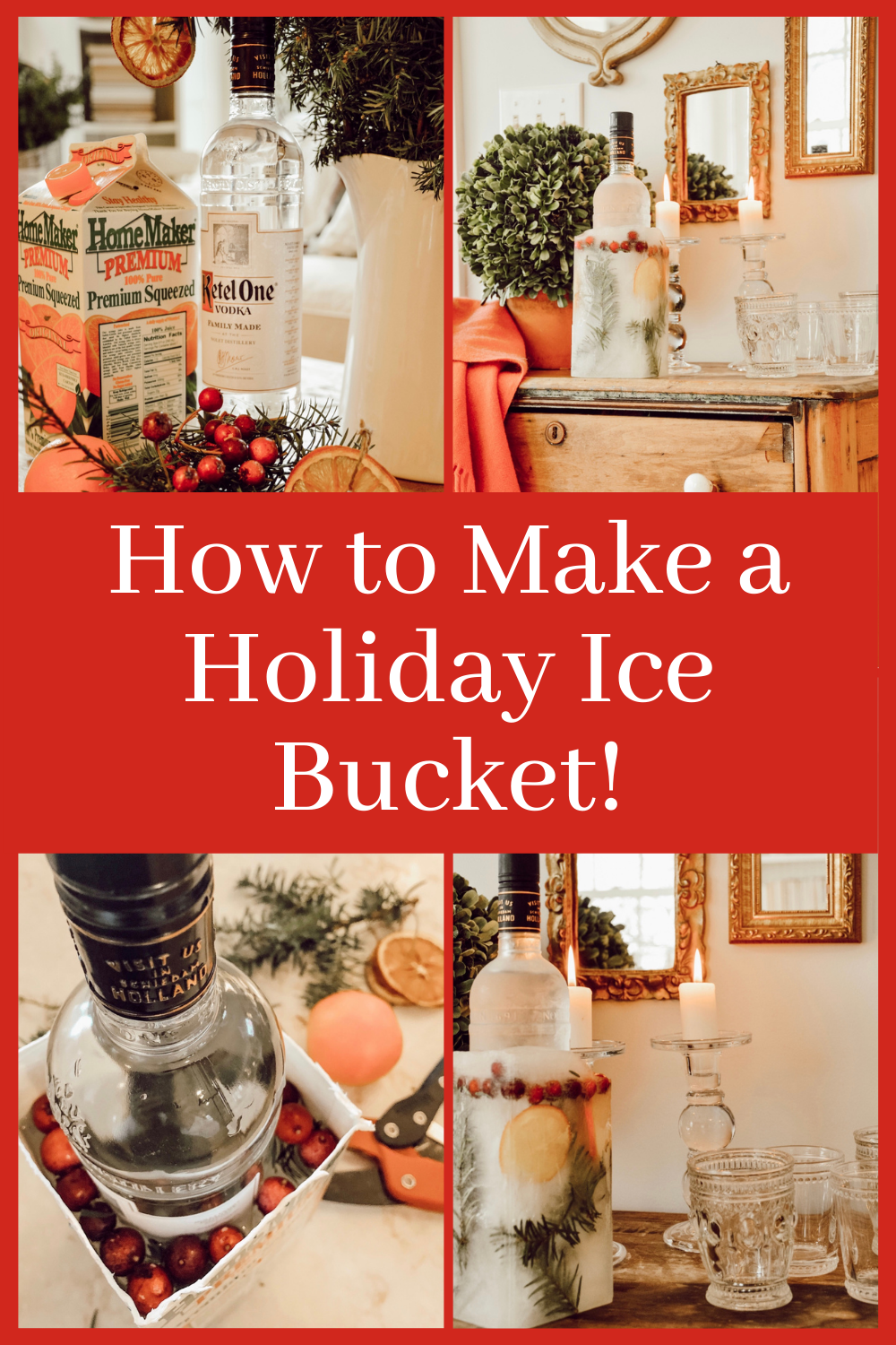 How to Make a Holiday Ice Bucket