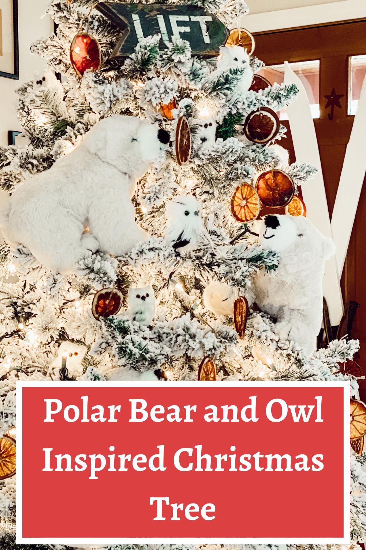 Polar Bear and Owl Inspired Christmas Tree