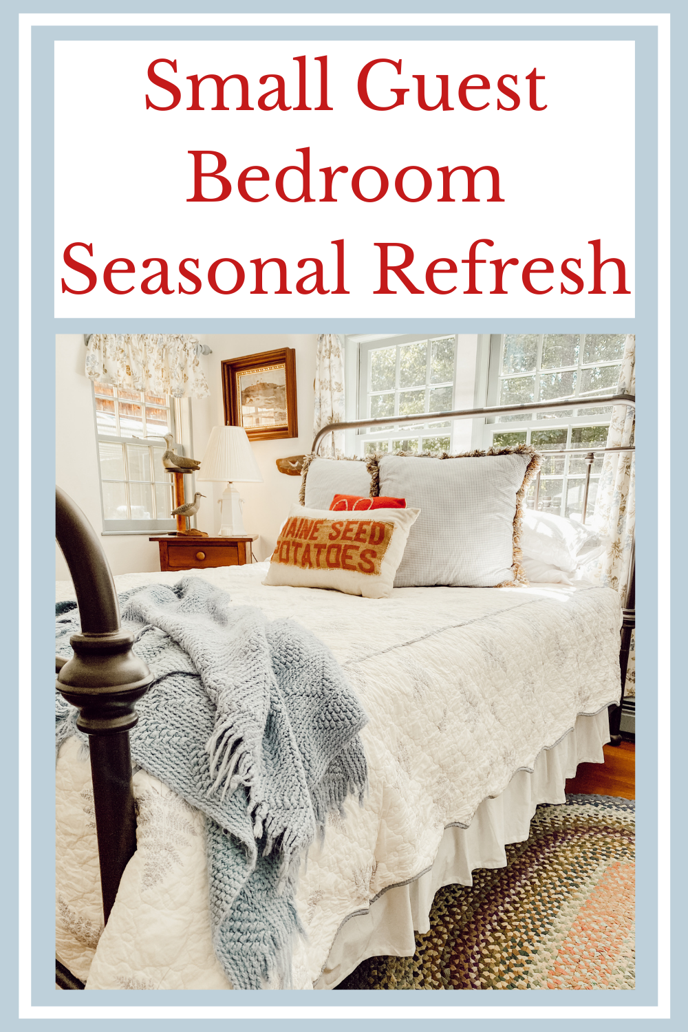 Small Guest Bedroom Seasonal Refresh