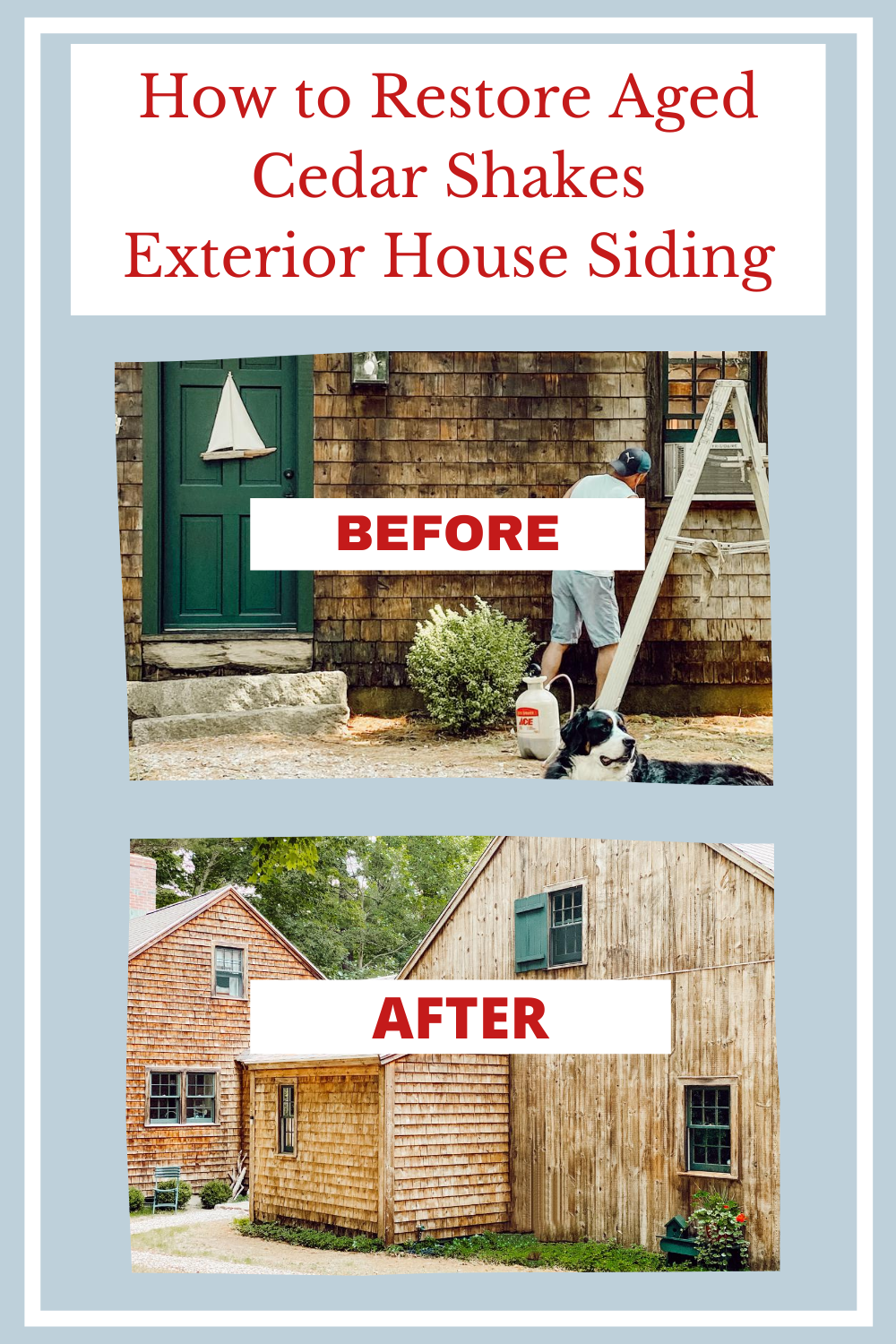 How We Restored our Aged Cedar Shakes Siding