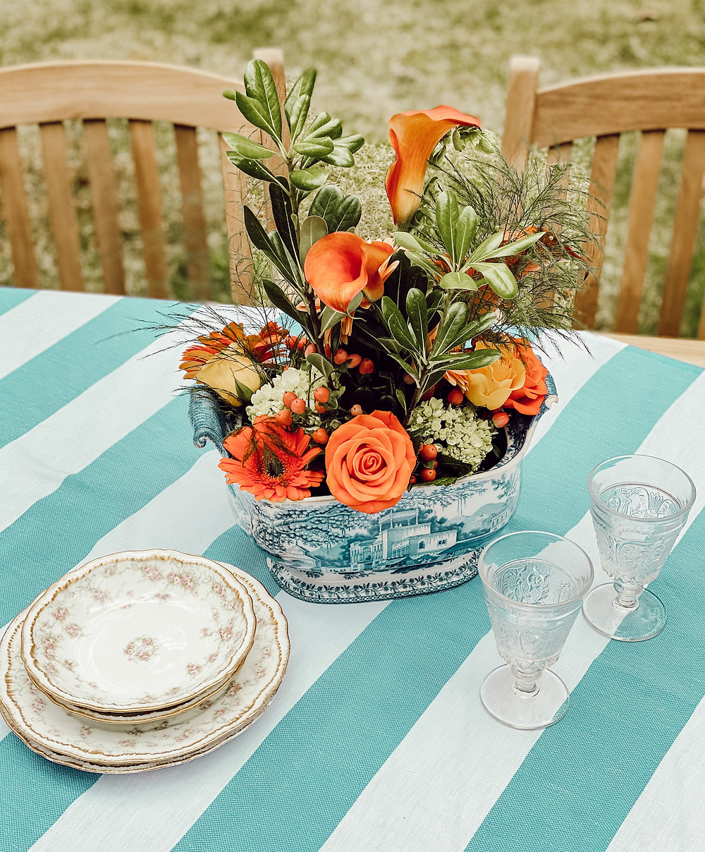 Backyard Table and Centerpiece