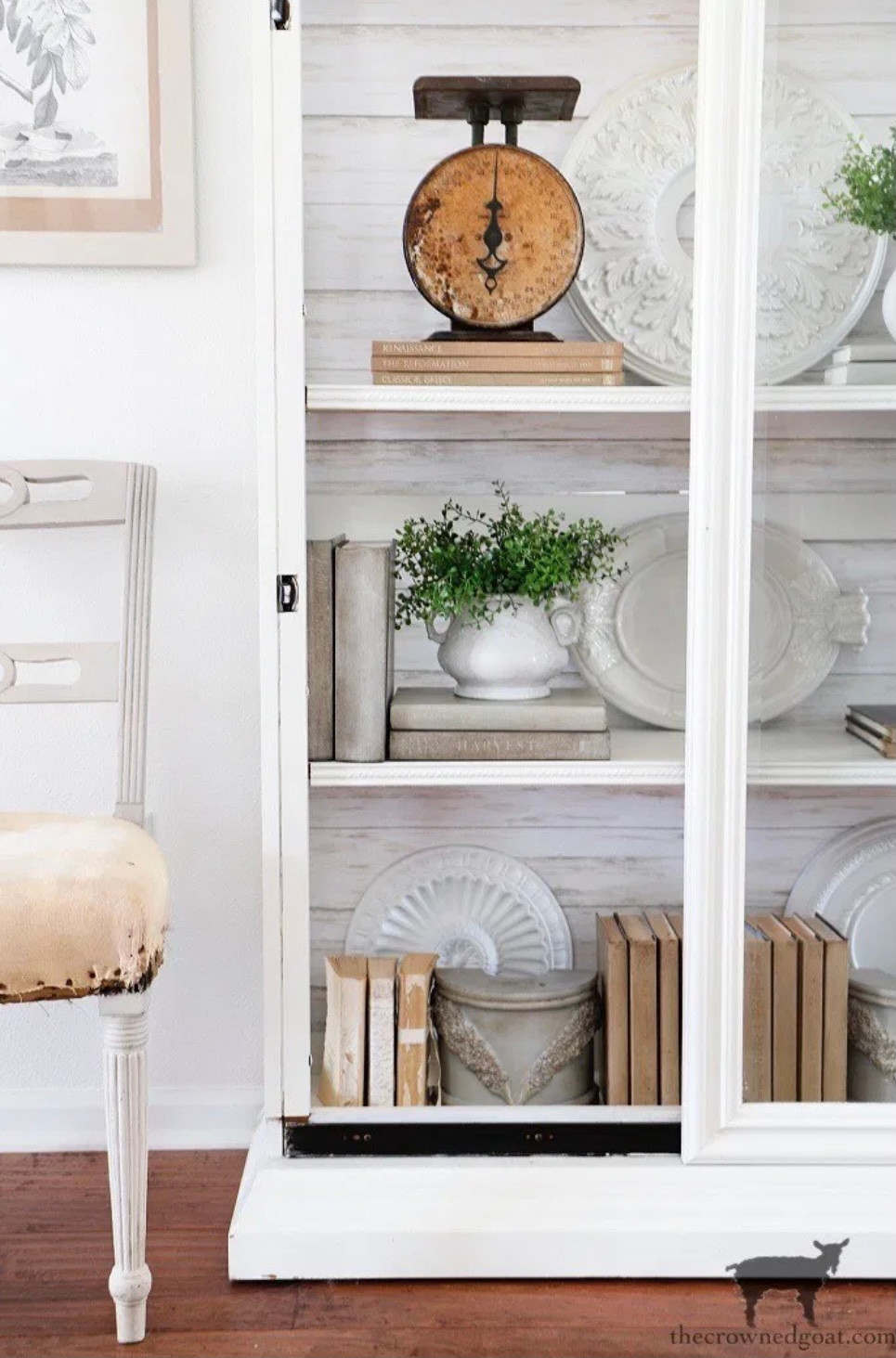 How to Style a Glass Display Cabinet