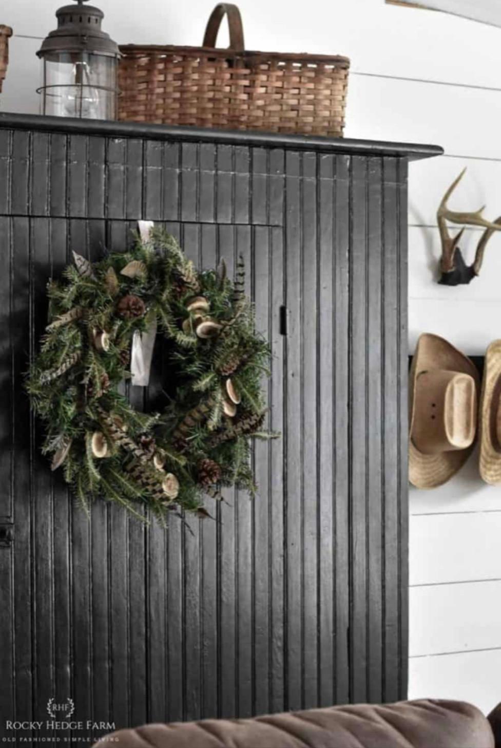 DIY Rustic Woodland Winter Wreath