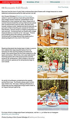 Country Sampler Magazine Feature