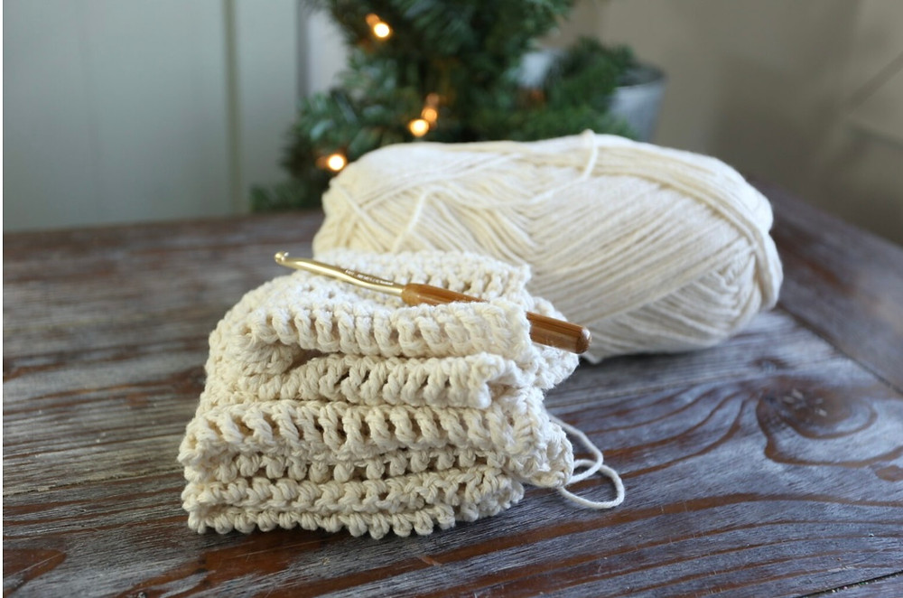 How to Crochet a Dishcloth for Absolute Beginners