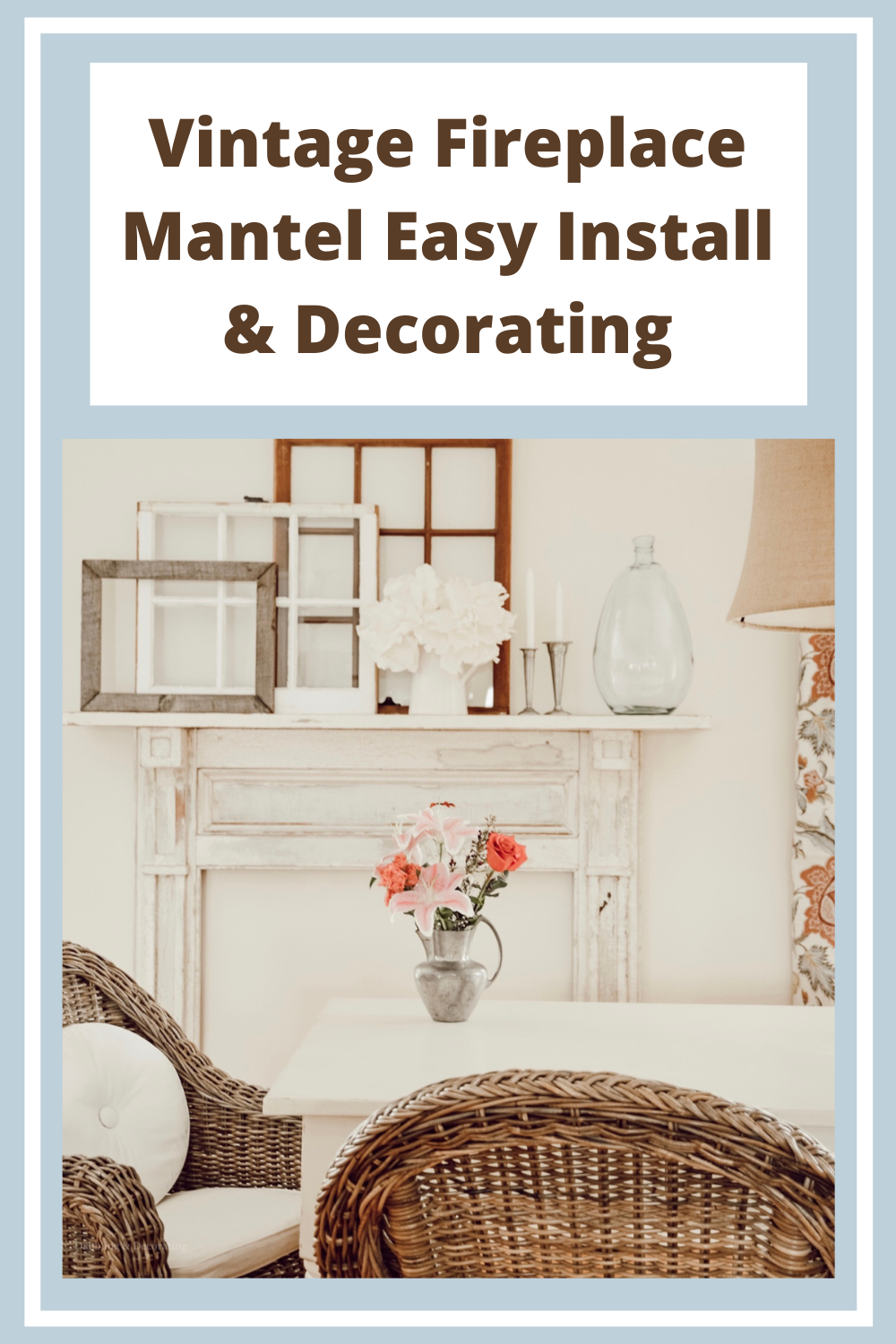 Vintage Fireplace Mantel Easy Install & Decorating