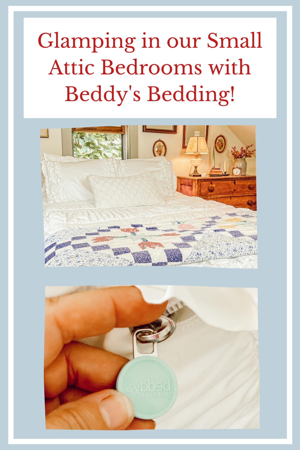 Glamping in our Small Attic Bedrooms with Beddy's Bedding