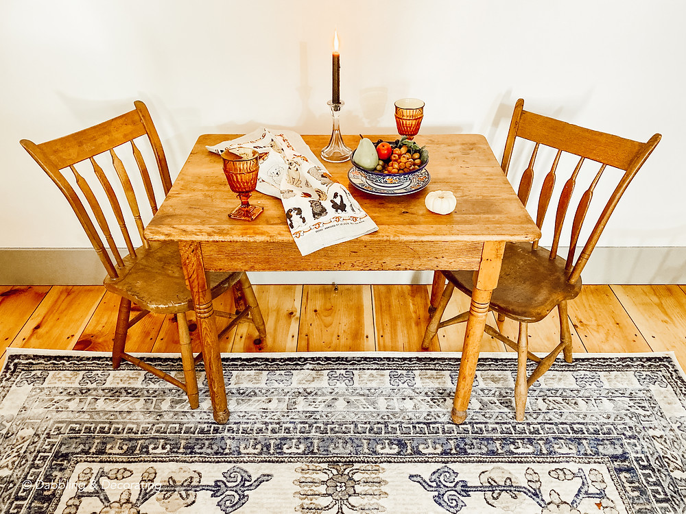 Charming Antique Table and Chairs for Two