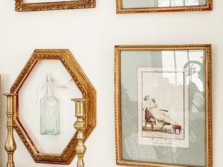Decorating with Flea Market Frames