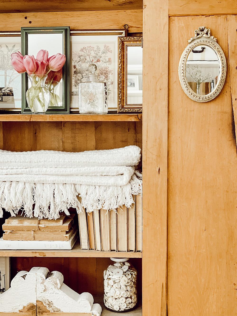 Antique Pine TV Cupboard