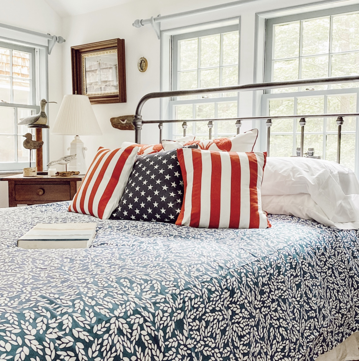 Decorating with Red, White, and Blue in