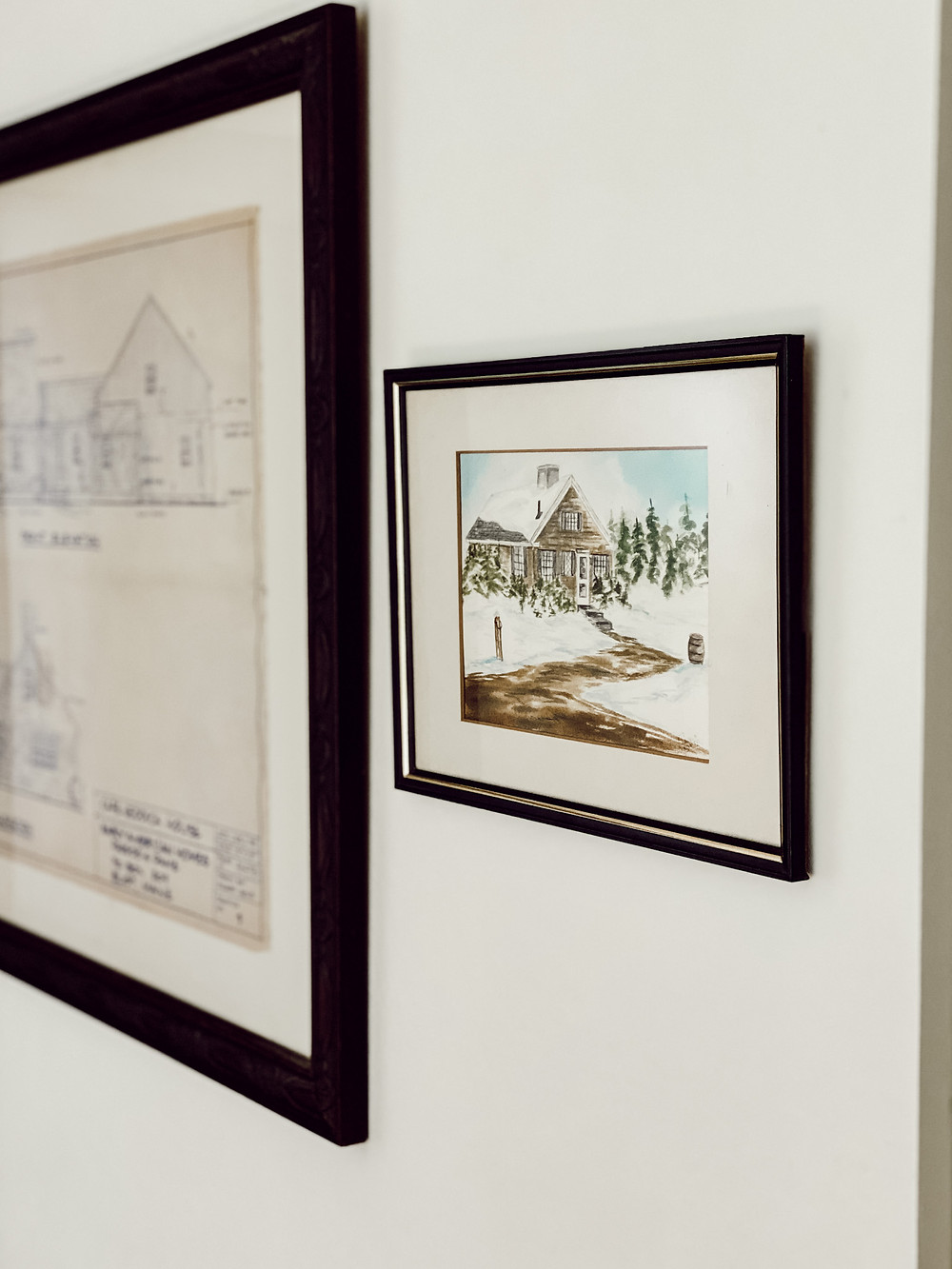 Showcasing Aged Architectural House Drawings