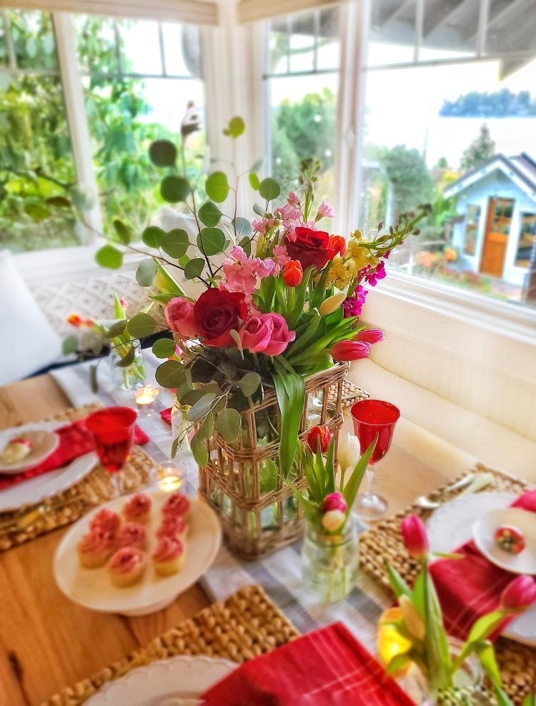 Garden Inspired Valentine's Day Tablescape