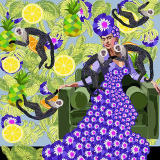 Frida Khalo in Purple